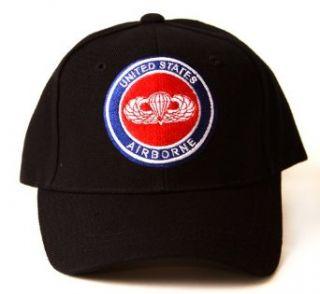 187 Airborne Rakkasans Logo Style Hat   Black Clothing