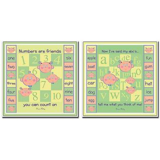 Grace Riley ABCs & 123s 2 piece Canvas Art Set