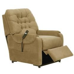Apex Tan Fabric Power Lift Chair/Recliner