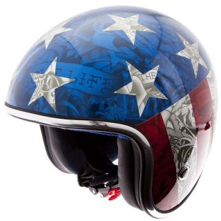 ED HARDY Casque Jet Captain America   Achat / Vente CASQUE ED HARDY