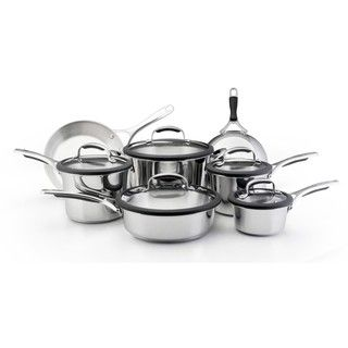 KitchenAid Gourmet Stainless Steel 12 pc Cookware Set