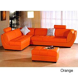 Modern Contemporary 3 piece Leather Sectional Sofa
