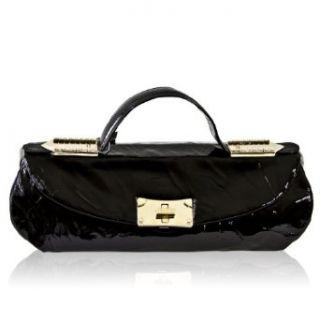 Renato Angi Italian Designer Black Patent Leather
