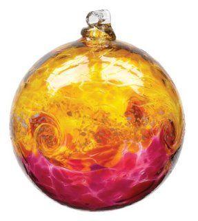 Kitras Art Glass VAN GLOW Hand Blown Glass Ornament Ball