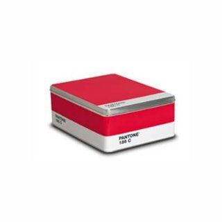 Pantone Metal Storage Box Ruby Red 186c: Arts, Crafts
