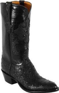 Black Full Quill Ostrich Custom Hand Made Cowboy Boots L1189 Shoes