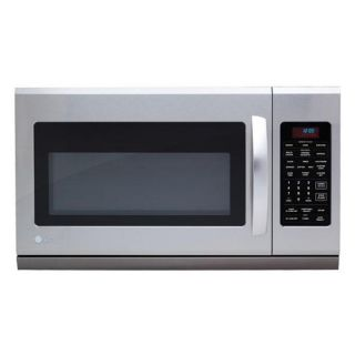 LG Stainless Steel Over the Range 1,100 Watt Microwave Oven Today $
