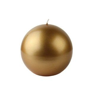 Metallic Gold Ball Candles 4 (2 Pack) Vot 187