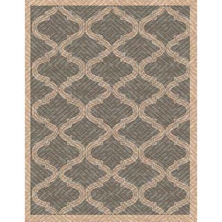Woven Indoor/ Outdoor Bombay Grey/ Beige Patio Rug (53 x 76
