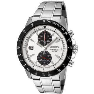 Seiko Mens SNN187P1 Chronograph Silver Dial Stainless Steel Watch