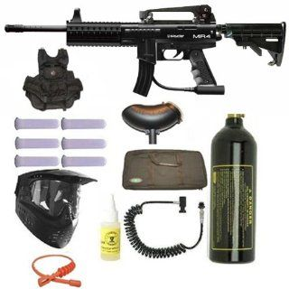 Spyder Paintball MR4 Tac Vest Marker Gun Sniper Set