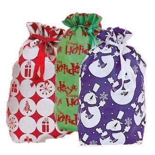 Happy Holidays Gift Sack Set, Includes 6 Gift Sacks with