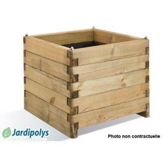 Jardinière Carrée Oléa 125 litres JARDIPOLYS   Achat / Vente
