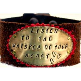 My Three Metals Leather Whisper Cuff