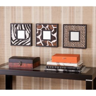 Abana Animal Print Decorative Wall Mirror 3 Pc Set Today $67.99 Sale