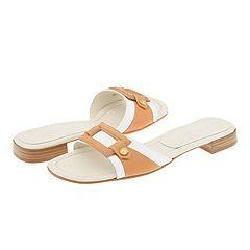 Anne Klein New York Sasha White/Natural 8 Shoes (Open Box)