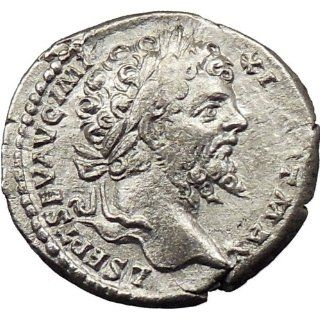 Septimius Severus 199AD Silver Ancient Roman Coin Victory