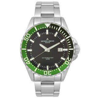 Jacques Lemans Mens GU194B Geneve Tempora Diver 20 ATM Collection