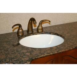 Silkroad Exclusive 64 inch Stone Countertop Bathroom Vanity Lavatory