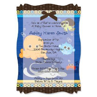 Under he Sea Criers   Personalized Baby Shower Vellum