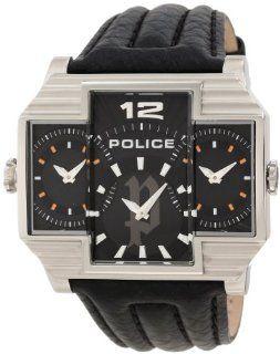 Police Mens PL 13088JS/02 Hammerhead Rectangular Black Tri Dial