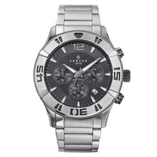 Certus Paris Mens Stainless Steel Grey Dial Automatic Watch