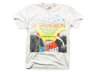 Dr. Strangelove Black Comedy Film Logo White Adult T shirt