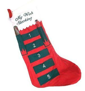 Jumbo Christmas Wish Stocking with Pen and Candy Cane 34 x