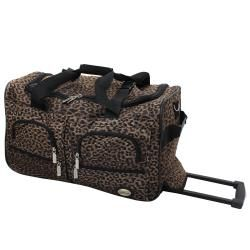 Rockland Perfect Combination 3 piece Leopard Expandable Luggage Set