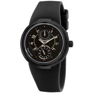 Philip Stein Womens Active Black Rubber Strap Watch MSRP $475.00