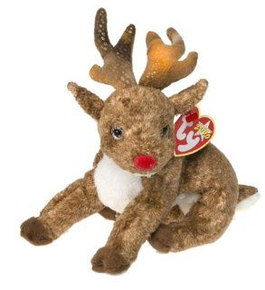 TY Beanie Baby   ROXIE the Reindeer (Red Nose) Toys