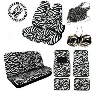 Complete Animal Print Seat Cover and Accessories Set 2 Low Back Seat