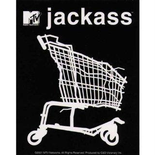 Jackass   Shopping Cart   Decal   Sticker    Automotive