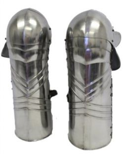 Full Leg Steel Gothic Armor: Medieval Knight Costume