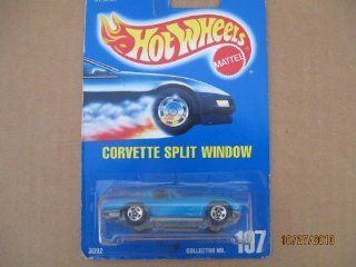 Hot Wheels Corvette Split Window #197 All Blue Card 2