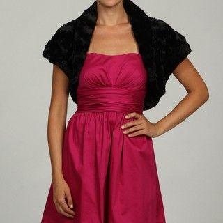 Eliza J Womens Faux Fur Caplet Bolero