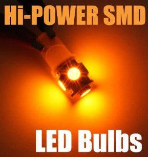 T10 194 Hi Power Wedge LED Light Bulbs(5 SMD) YELLOW/AMBER