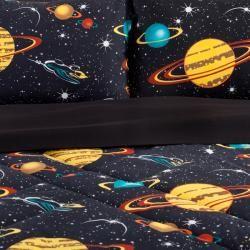 Galaxy Glow In The Dark 4 piece Full size Comforter Set