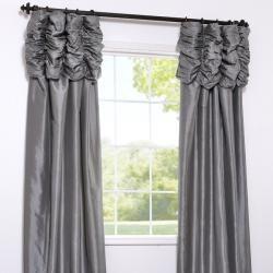 Platinum Faux Silk Taffeta 120 inch Curtain Panel