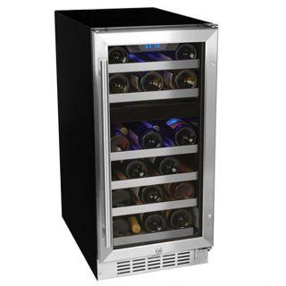 EdgeStar CWR261DZ 26 bottle Dual Zone Stainless Steel Wine Cooler