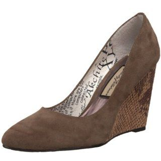 Womens Debutante Pump,Taupe Suede/Snake Print Leather,6 M US Shoes