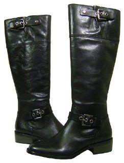 Coach Jacinda Full Grain Leather Black Boots Shoes