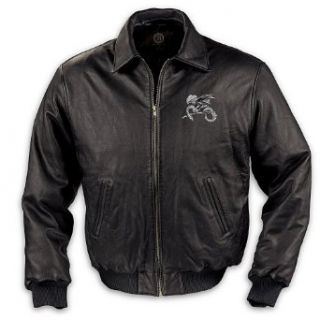 Realm Of The Dragon Mens Leather Jacket Clothing