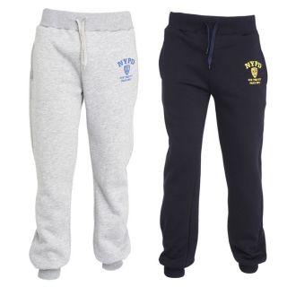 NYPD 2 Pantalons de Jogging Homme Marine et gris chiné   Achat