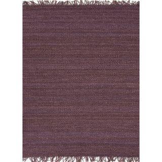 Handmade Flat weave Solid Pink/ Purple Hemp/ Jute Rug (8 x 10) Today
