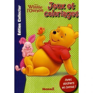Jeux et coloriages ; Disney Winnie lourson   Achat / Vente livre