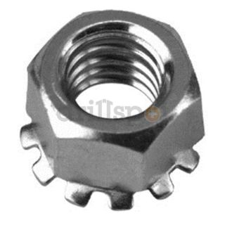 DrillSpot 70920 1 #4 40 18 8 Stainless Steel Keps Lock Nut With External Tooth Lockwasher, Pack of 100