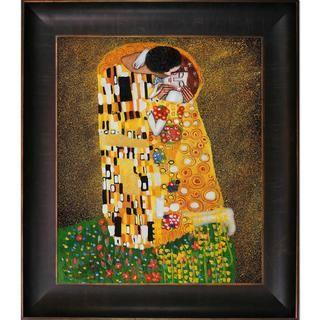 Gustav Klimt The Kiss (Full view) Framed Canvas Art