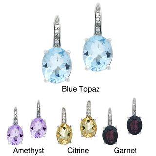 Glitzy Rocks Sterling Silver 6.4 CTW Blue Topaz and Diamond Accent