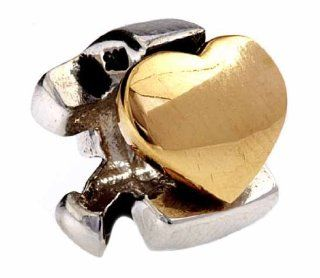 Silverado Silver 14K Gold Faith Hope Charity Bead Charm